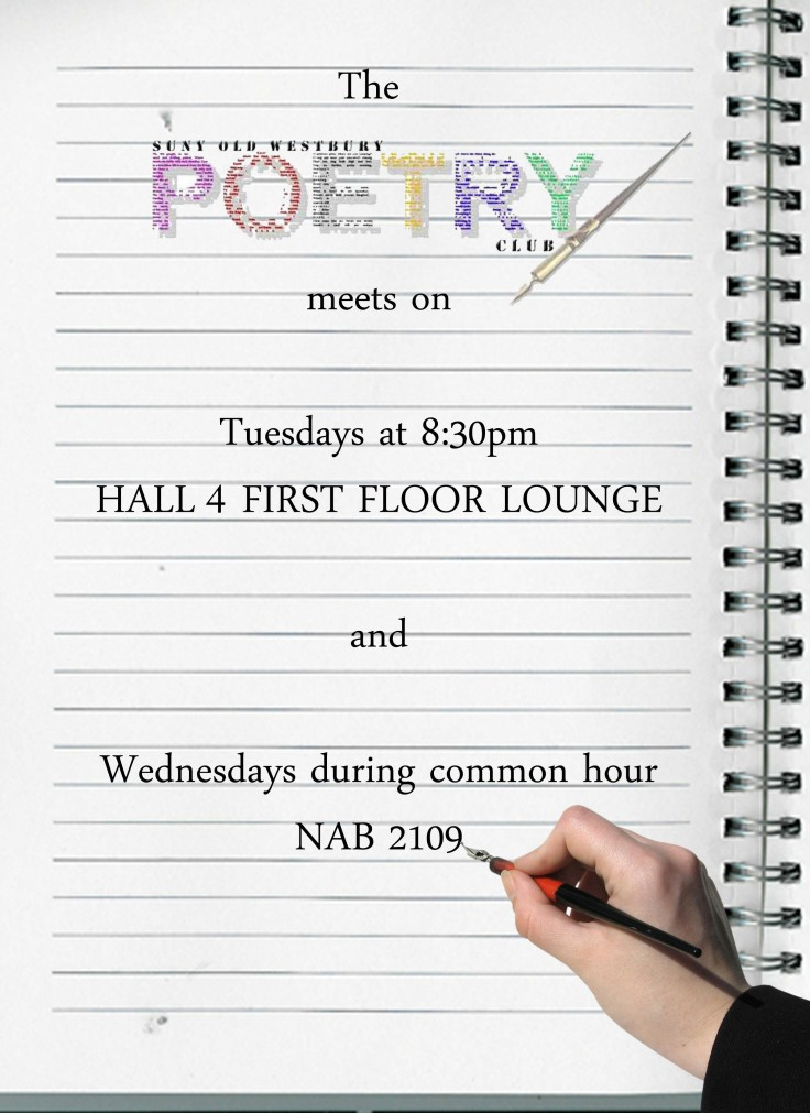 Updated Poetry Club Meeting Locations