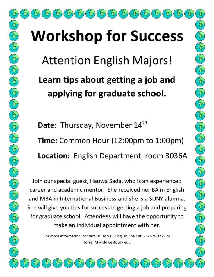 English Major Workshop for Success