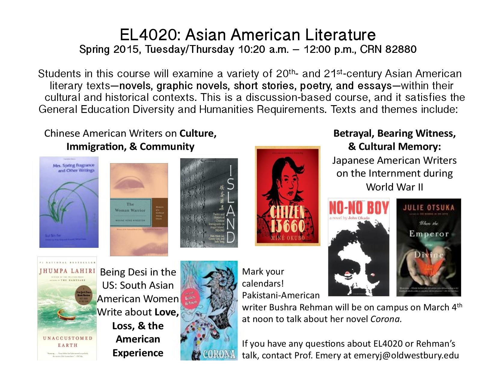 asian literature essay The gay and lesbian presence in american literature unlike african american literature or asian american literature or indeed lorde's essay on the.