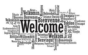 Welcome image black and white