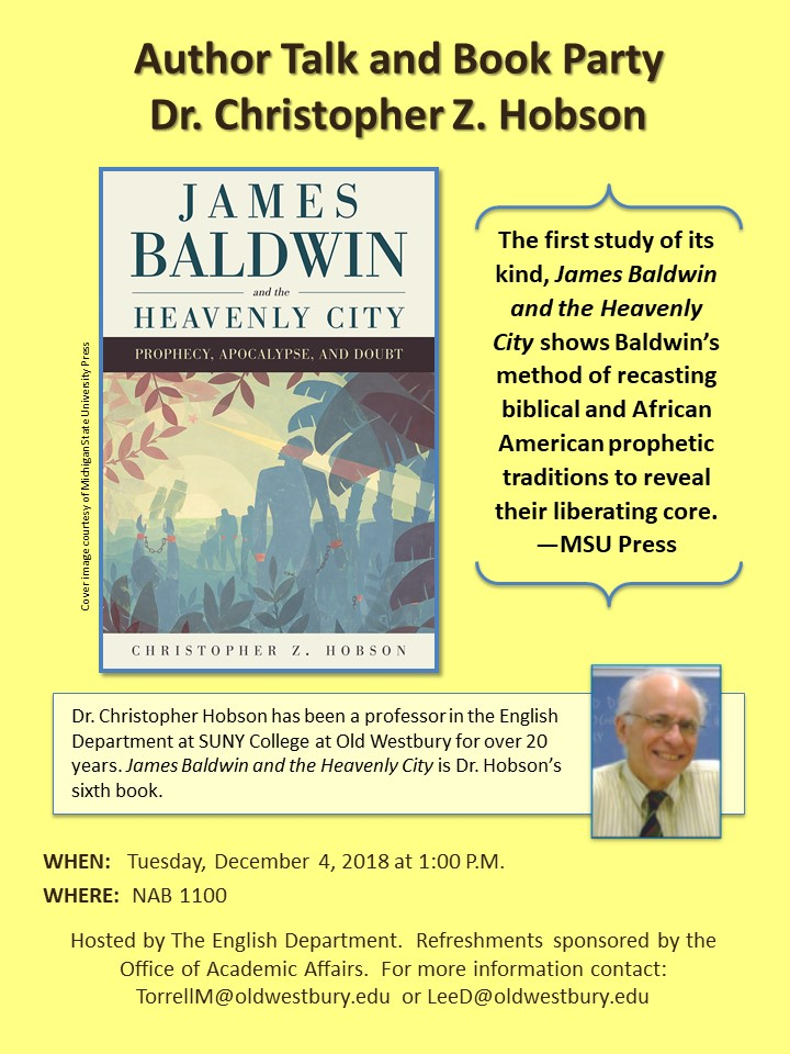 Hobson Book Talk Flyer